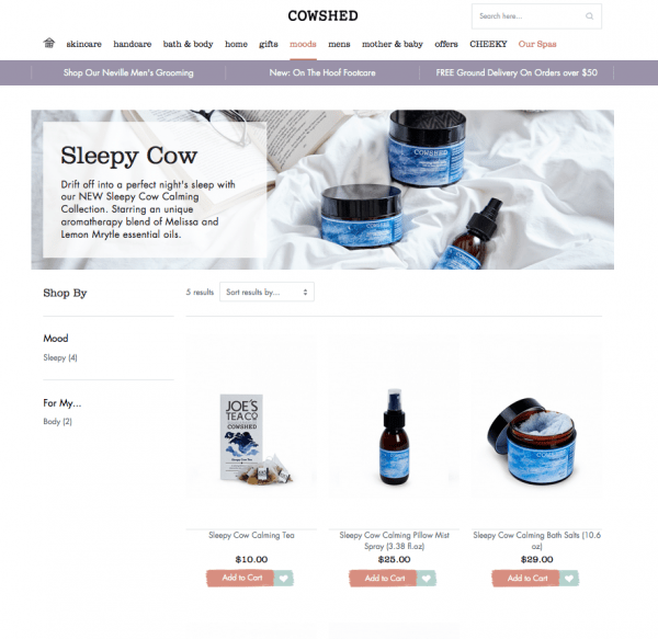 Cowshed on Magento
