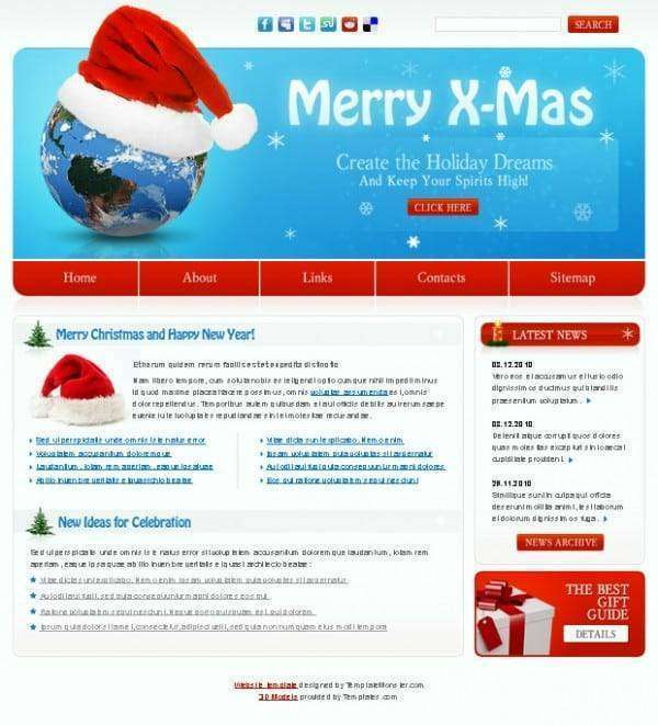website design for Christmas