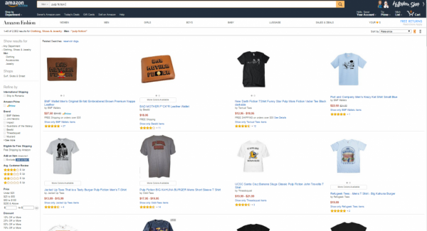Amazon product pages design
