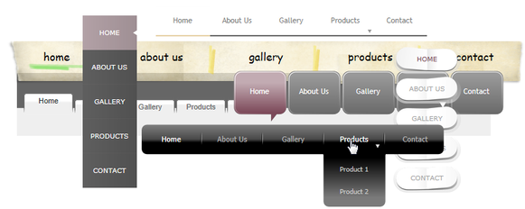 eCommerce navigation bar