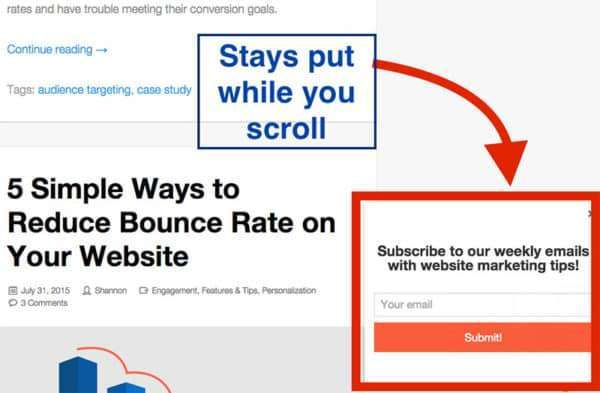 how to place call to action in email