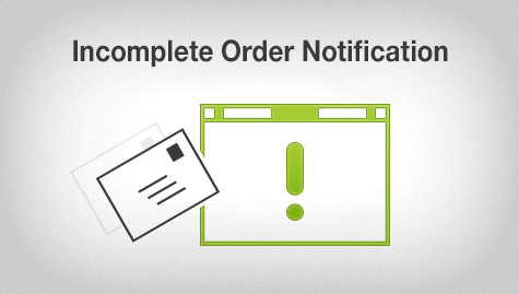 incomplete order ecommerce