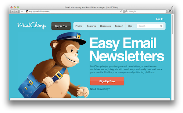 email makreting software mailchimp