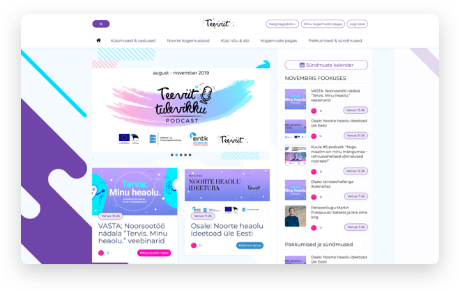 Teeviit Youth portal