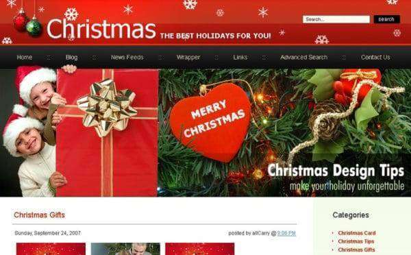 website holiday themes