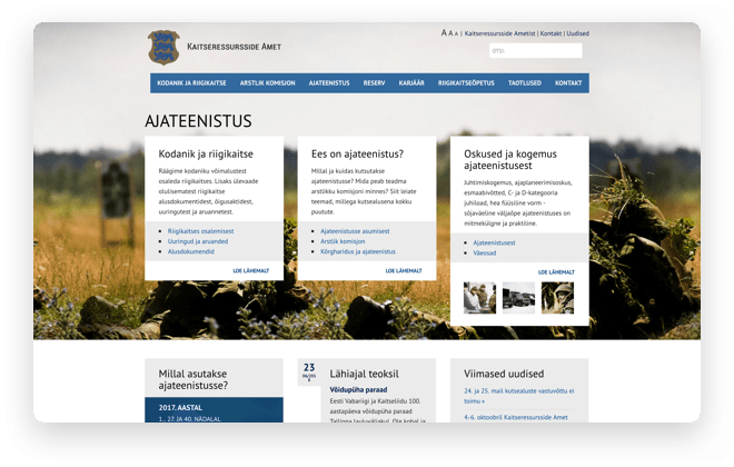 Military resources website
